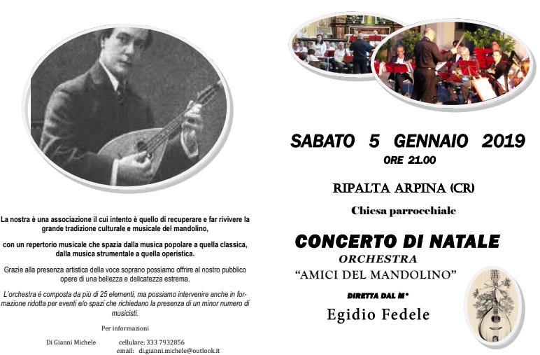 Concerto degli Amici del Mandolino a Ripalta Arpina (Cremona)