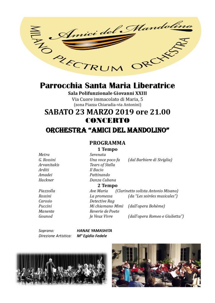 """Concerto degli """"Amici del Mandolino"""" di Milano"""
