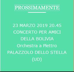Orchestra Plettro città di CodroipoConcerto per gli amici della Bolivia