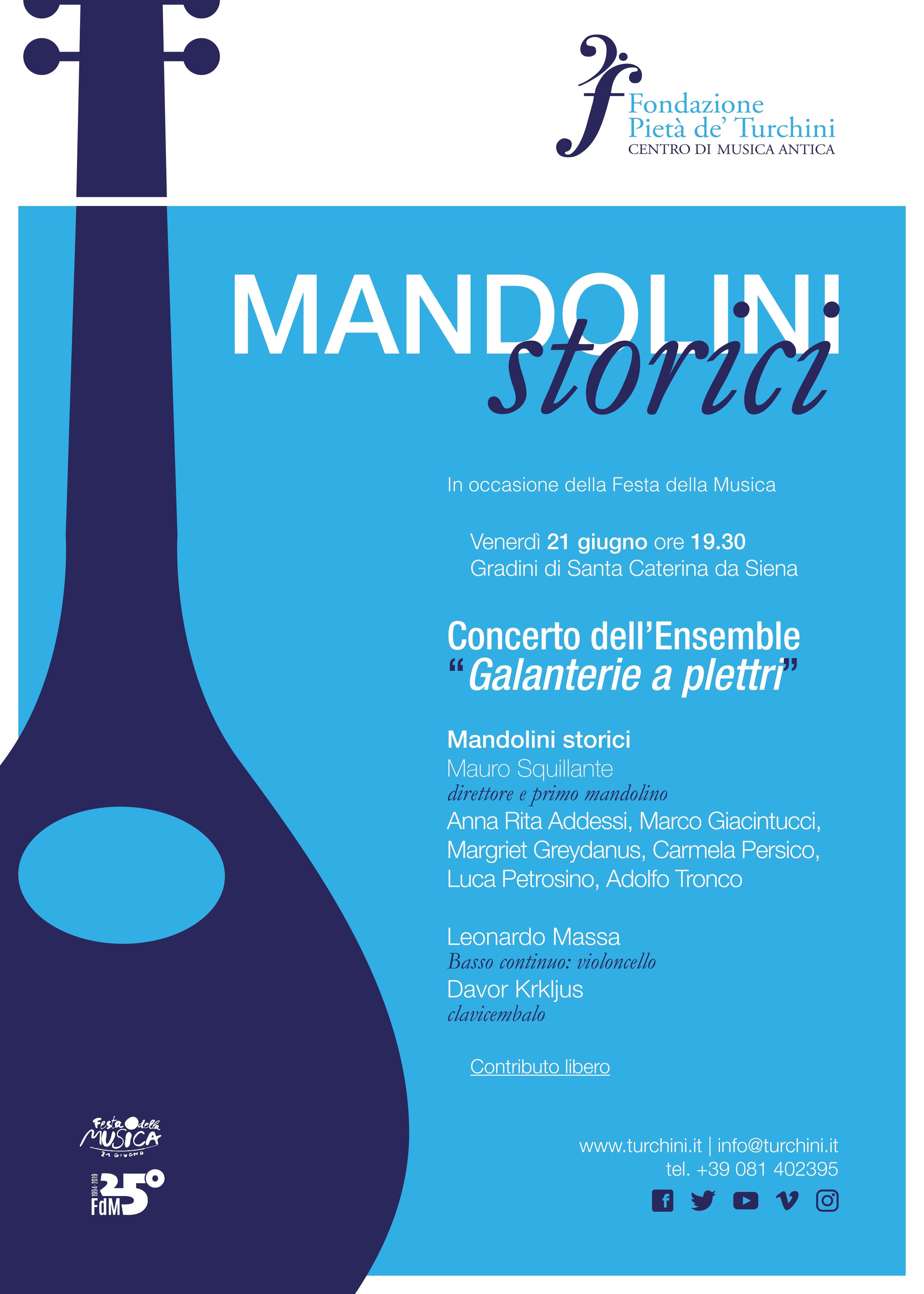 Galanterie a plettro e mandolini storici a Napoli